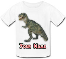 DINOSAUR T-REX PERSONALISED KIDS T-SHIRT - IDEAL GIFT FOR ANY CHILD