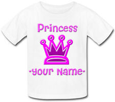 LITTLE PRINCESS PERSONALISED GIRLS T-SHIRT - IDEAL GIFT FOR ANY CHILD