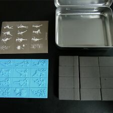 11 type DIY spongy stamp collection with iron box free Shiping CSD1
