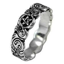Celtic knot Pentacle Banshee Guardian Ring SS Sterling Silver sz 4-12 Wicca
