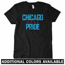 Chicago Pride Women's T-shirt - Bulls Bears Blackhawks Cubs Sox Tee - S to 2XL