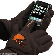 NFL 180s Cleveland Browns Winter Fleece Touch Tec Gloves w/ Exhale Heating NEW!