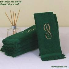 2 Personalized Monogrammed Fingertip Guest Towels 100% Ring Spun Cotton USA Made