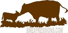Cow and Calf Pasture Vinyl Decal Your Color Choice Sticker