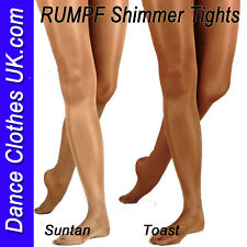 RUMPF ~ Shiny Dance Tights, SHIMMER, SHIMMERY Toast / Suntan Tights, All Sizes