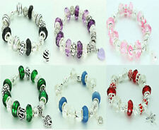 NEW COMPLETE BRACELET 17 SPARKLE BEADS CHARMS SPACERS IDEAL PRESENT GIFT