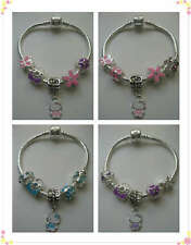 """CHILDRENS/KIDS/GIRLS 6"""" HELLO KITTY CHARM BRACELET X1  WITH SMALL CHARMS *UK*"""