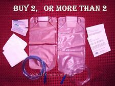 2 ENEMA BAGS or BUY MORE clear, sealed, disposable, soap  INSTRUCTIONS & INFO