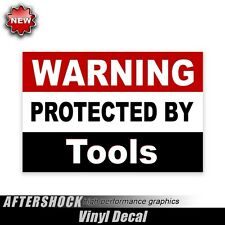 Warning Protected by Tool sticker snap on mechanic carpenter kobalt truck decal