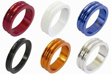 """One23 Alloy 1 1/8"""" Bike Headset Spacer Size & Colour Choice Concave Finish"""