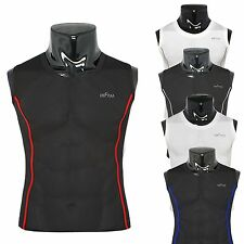 mens Skin compression shirts base layer clothing tights sleeveless S~XXL