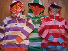 MINI BODEN STRIPED HOODIE SWEATSHIRT 3 COLOURS AGES 2-14  BNWOT