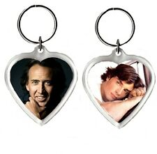 Heart Shaped Keyrings, Picture Insert Size 39mm X 39mm