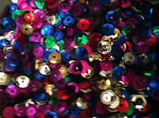 15g Sequins 7mm Beautiful colours. trimmings, embellishments sewing Approx 1500