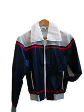 Vintage Retro lightweight blue, red and white Shell Jacket