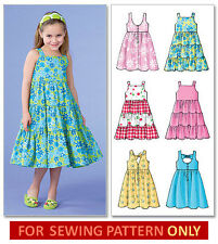 SEWING PATTERN! MAKES DRESS/SUNDRESS! 6 STYLES! SIZES TODDLER 2 TO CHILD 8! GIRL