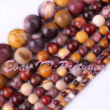 4,6,8,10,12mm Natural Mookaite Round Multicolor Jasper Gemstone Beads Strand 15""