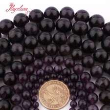 "4-16mm Natural Smooth Round Purple Amethyst Gemstone Spacer Loose Beads 15""/Lot"