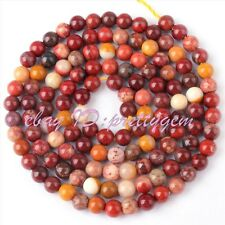 JEWELRY MAKING 3MM ROUND MOOKAITE JASPER SPACER LOOSE GEMSTONE BEADS STRAND 15""