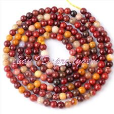 "2MM TINY ROUND MOOKAITE JASPER SPACER GEMSTONE BEADS STRAND 15"" JEWELRY MAKING"