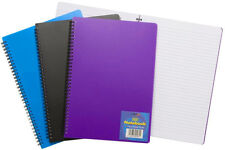 A4 A5 Wire Spiral Wirebound Notebook NotePad Note Book Pad Ruled Feint 140 Pages