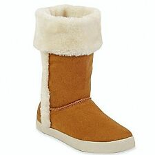 GIRL'S Arizona Victoria HAZELNUT BROWN AND WHITE FAUX FUR TRIMMED Girls Boot NEW