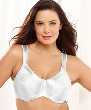 BALI Satin Tracings and Jacquard Minimizer bra - Style 3562 - Featuring White