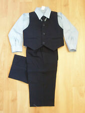 NEW NAVY VEST SUIT FOR INFANT,TODDLER BOY PHOTO WEDDING 12M,18M,24M,2T 3T 4T