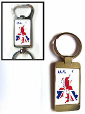 UK GB GREAT BRITAIN UNITED KINGDOM FLAG MAP KEYRING KEYFOB OR BOTTLE OPENER GIFT