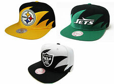 NFL Mitchell and Ness Sharktooth Snapback Hat Cap Vintage Throwback M&N NEW