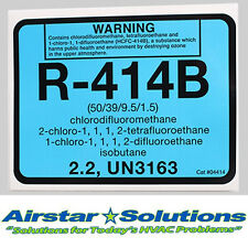 R-414B Refrigerant ID Label Diversitech # 04414, Self Adhesive Labels
