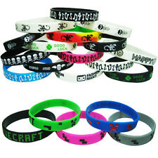 Fashion funky silicone rubber wristbands wrist bands rubber bracelets 15 CHOICES
