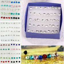 20 Pairs Clear/Multicolor Crystal Allergy Free Ear Studs Earrings