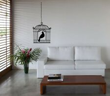 Wall Art sticker decal vinyl 0122 Bird Cage, Canary, Budgie - 3 sizes