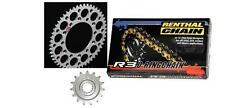 Renthal O Ring Chain And Silver Sprocket Kit YZ YZF WRF WR 125/250/400/426/450