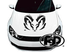 """Dodge ram large hood decal 30""""x23.5"""" Multiple color options available"""