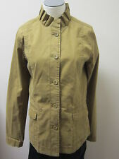 Eileen Fisher Washed Cotton Tencel Twill Ruffle Collar Jacket OLVNE NWT $238