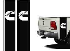 """Truck Bed or Car Racing Stripe decals Universal 11""""x40"""" Cummins color options"""