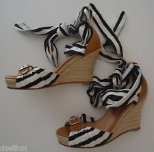 NIB Ann Taylor Georgina Wedge Espadrille Sandals Sz 7(US)