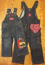 NEW Case International Harvestor Bib Overalls, blue denim, Jeans Kids Toddlers
