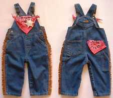NEW Cowgirl Bib Overalls, Blue Denim, Girl Sizes 9mo - 5T, Enchanted Egg