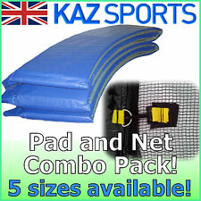 REPLACEMENT TRAMPOLINE SAFETY-NET & PVC PADDING/PAD/SURROUND COMBO PACK!
