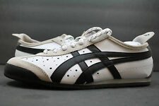 New! Asics OnitsukaTiger Mexico 66!! WHITE-BLACK!! UNISEX SHOE!! 7.5 TO 13!!