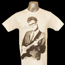 Buddy Holly New White Tee T-Shirts T-Shirt Size S,M, L