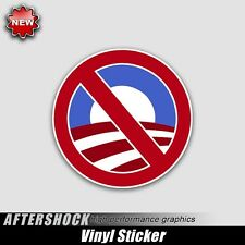 No Obama Sticker Republican president American tea party decal