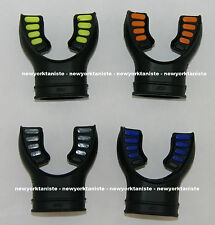 Ultra Black Silicone Mouthpiece, Blue Orange Yellow Grey
