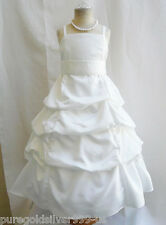 IVORY  PAGEANT JUNIOR BRIDESMAID RECITAL DANCING WEDDING PARTY FLOWER GIRL DRESS