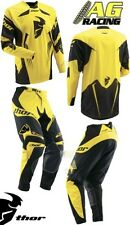 Thor 2013 Core S13 Solid Yellow Race Jersey Pants Combo Kit Motocross Enduro New
