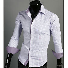 DP019 Korea Men's Fashion Stylish Dress Shirts, Slim Fit Casual Dandy Shirts