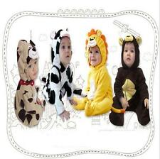 Baby Boys Girls Hoodie Jumper Romper Fleece  Animal Play suit Outfit Costume